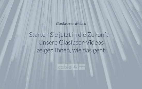 Cable 4 News: Glasfaser – Videos auf YouTube
